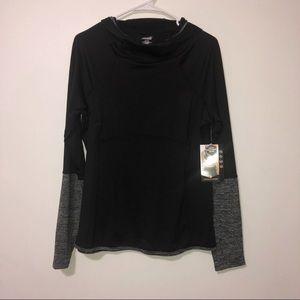 Avia black and gray long sleeve hoodie medium